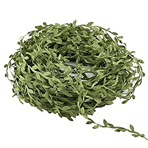 HOGADO Artificial Vines, 132 Ft Fake Hanging Plants Silk Ivy Garlands Simulation Foliage Rattan Green Leaves Ribbon Wreath Accessory Wedding Wall Crafts Party Decor 1