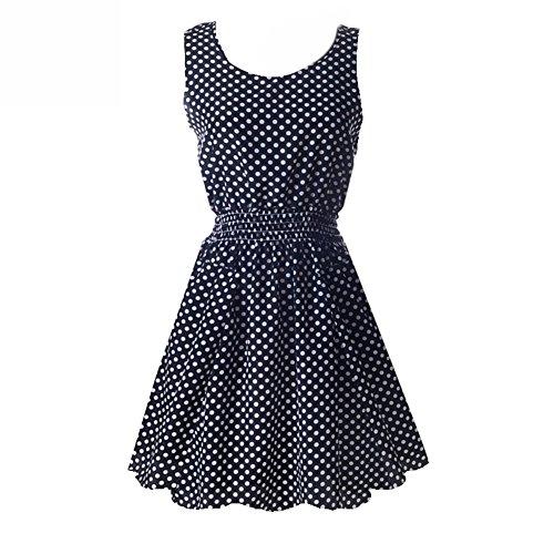 Floral Summer Tank Dress - 1