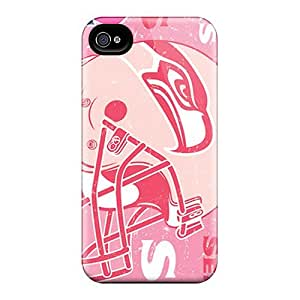 High Quality Shock Absorbing Case For Iphone 4/4s-seattle Seahawks
