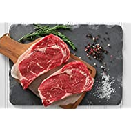 Greensbury Market - 6 (8oz) USDA Certified Organic Grass-fed Ribeye Steaks - Born & Raised in the USA
