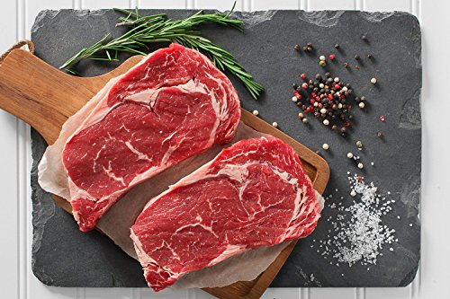 Greensbury Market - 6 (10 Ounce) USDA Certified Organic Grass-fed Ribeye Steaks - Born & Raised in the USA