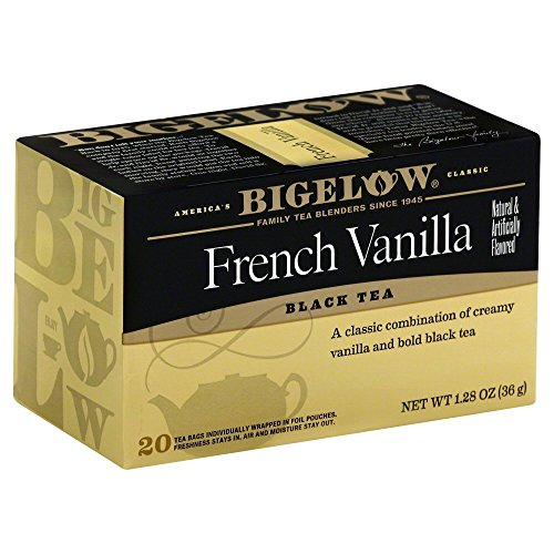 (BIGELOW French Vanilla Black Tea 20 Bags 1.28 Oz(Pack of 2))