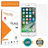 OpenTech Apple iPhone 8 Tempered Glass Screen Protector with Installation kit (2.5 D and Full Transparent)