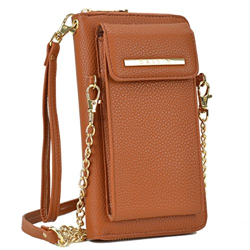 DASEIN All-In-One Crossbody Messenger Bag PU Leather Wallet Purse Single Shoulder Bag Cellphone Pouch (Fit iPhone X 8 7 Plus 6S/6 5S Samsung S8, S7 Edge etc) - State Leather Iphone Case