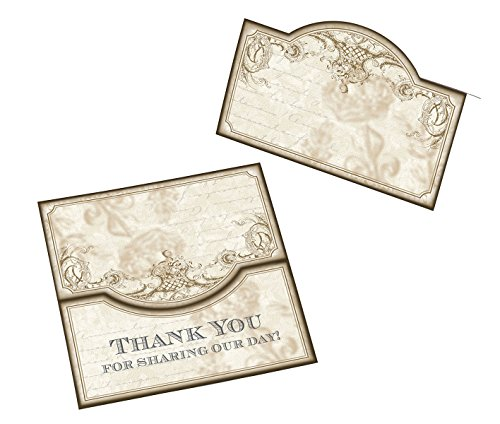 Set of 48 Gold Place Cards by Vintage