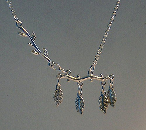 Sterling Silver Leafy Branches Necklace
