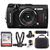 Olympus TG-5 Digital Camera (Black) + 32GB & Adventure On Water Action Bundle