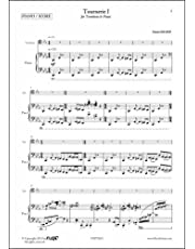 PARTITURA CLASICA - Tournerie I - D. LELOUP - Trombone and Piano