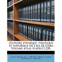 Histoire Physique, Politique Et Naturelle de l'Ile de Cuba Volume Atlas Plates11.220.