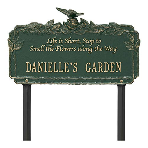 Personalized Lawn Butterfly Garden Plaque with Quote