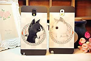 Galaxy Note2 Case, Lovely Kitty Cat Animal Back Case Cover for Samsung Galaxy Note2 N7100, 1 piece, White Cat hjbrhga1544
