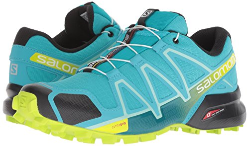 Salomon Women's Speedcross 4 W Trail Running Shoe, Bluebird/Acid Lime/Black, 5.5 B US by Salomon (Image #5)