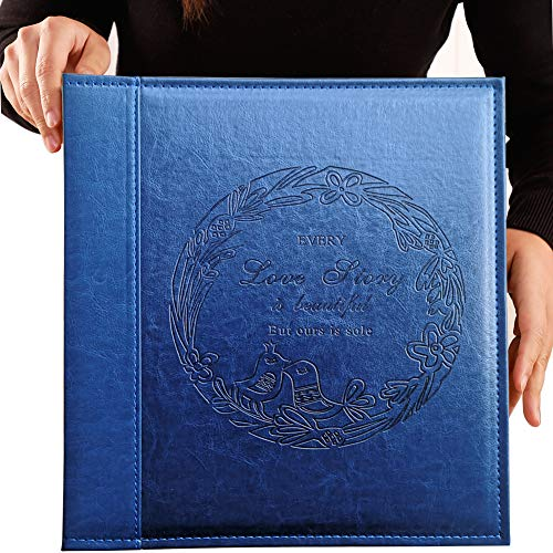 Totocan 4x6 Photo Album 600 Pockets, Extra Large Capacity Picture Album with Vintage Leather Cover, Family, Baby, Wedding Album (Blue)