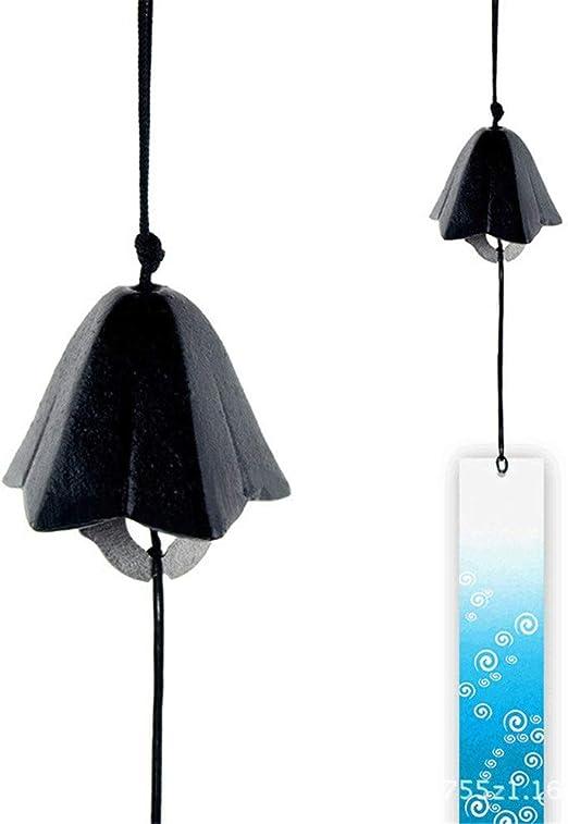 Atrapasueños Adornos colgantes de jardín japonés Juego de campanas de viento de hierro fundido antiguo 2 Campana colgante retro Campana de viento decorativa al aire libre Timbre de la puerta Adorno Co: