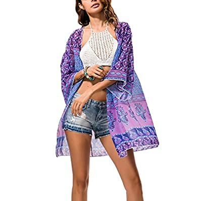 Swim Cover Up,Women Chiffon Beach Coverup Cardigan for Bikini,Swimsuit