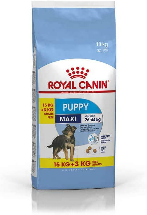 Royal Canin Maxi Junior Dry Mix 15 kg + 3 kg Extra Free (Total 18 kg)