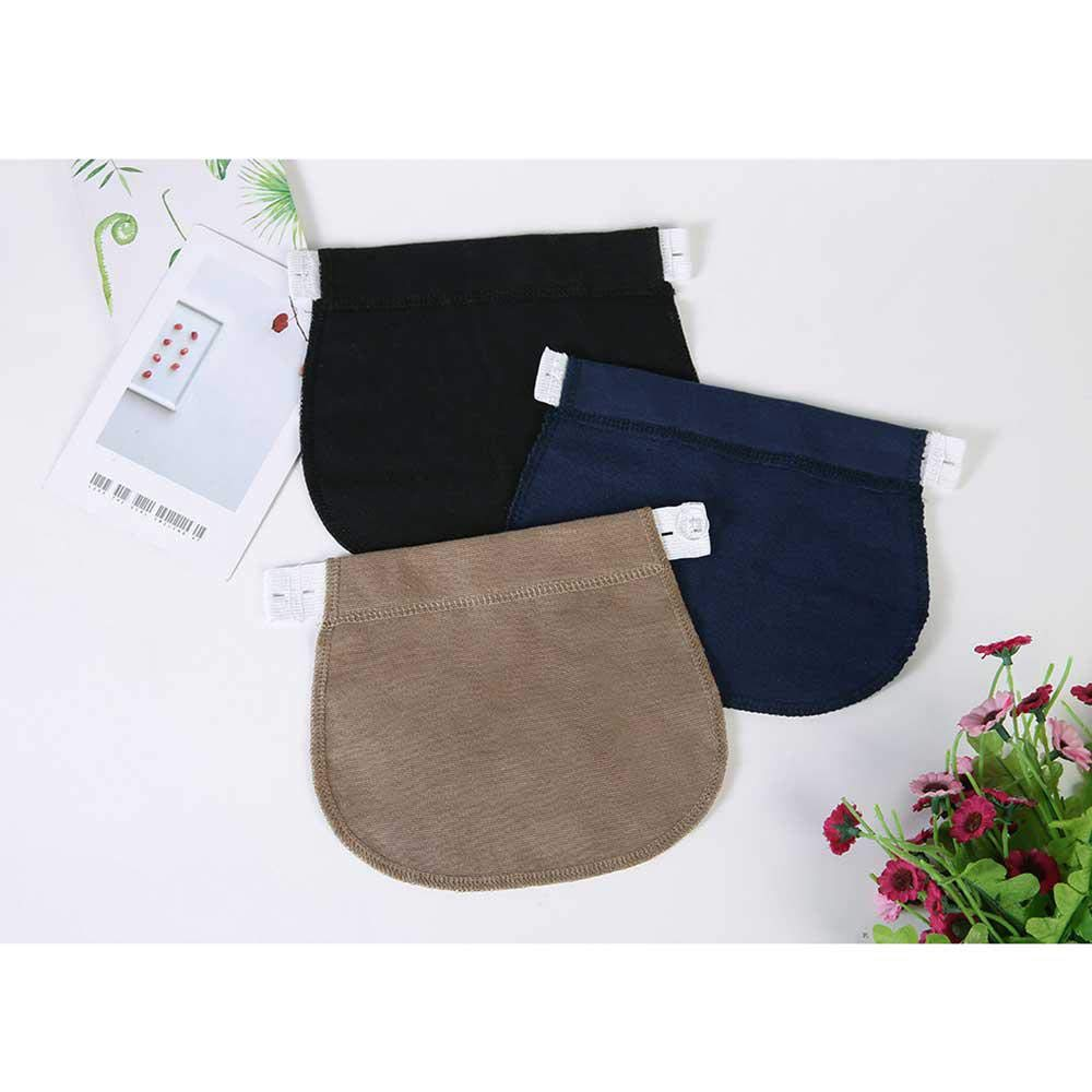 Obese People Beer Belly Man and So on A Good Helper for Expectant Mothers 3Pcs Adjustable Elastic Maternity Belly Band for Pregnant Women Black /& Blue /& Khaki Pregnancy Waistband Extender