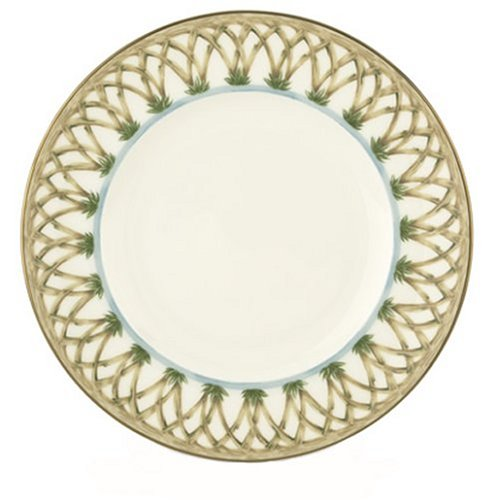 UPC 091709434159, Lenox Colonial Bamboo Gold Banded Bone China 9-Inch Accent Plate