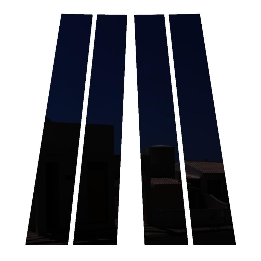 Ferreus Industries Piano Black Pillar Post Trim Cover fits: 2009-2014 Dodge Ram 4 Door Model PIL-118-GB
