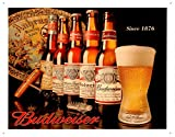 History of Budweiser Metal Sign , 16x13