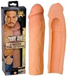 Power Suction CyberSkin VEINED Penis Extension Extender Enlarger New