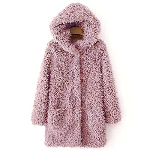 Cappotto Donna Caldo Outwear Fashion Pelliccia Giacca Inverno Casual Artificiale Soprabito Morwind Outercoat Piumino Jacket Parka In Pink dqP5wBxp