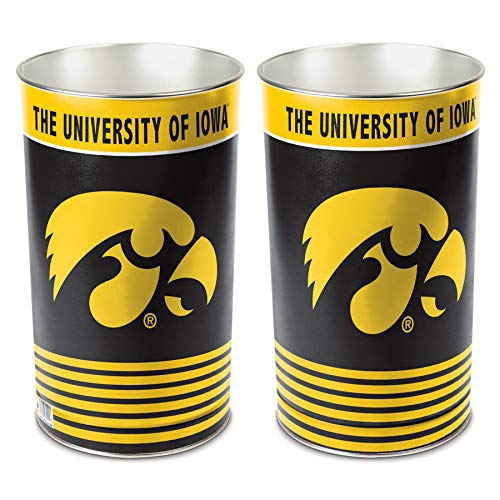 Standard Wastebaskets (WinCraft NCAA Iowa Hawkeyes 15 Waste Basket, Team Color, One Size)