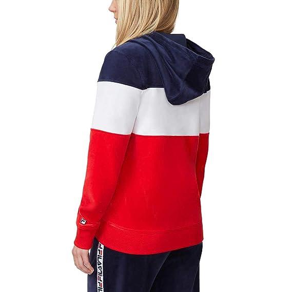 Amazon.com: Fila Sandy Velour - Chaqueta con capucha para ...