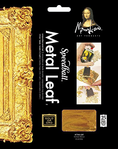 Speedball 10204 Mona Lisa Composition Gold Leaf, 25 Sheet Pack - 25 Sheet Pack