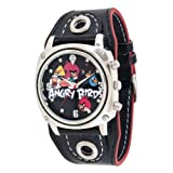 Angry Birds ANB012s Fashion Mens Boys Black Dial Metal Numbers Wrist Watch Cuff, Watch Central