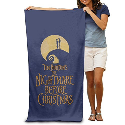LCYC The Nightmare Before Christmas Adult Cartoon Beach Or Pool Hooded Towel 80cm*130cm - Sally Alternative Costumes