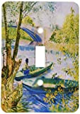 3dRose LLC lsp_56132_1 Van Gogh Fishing In Spring 1887 Painting Single Toggle Switch