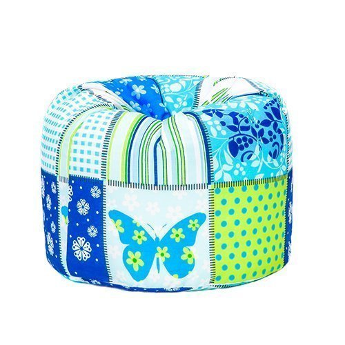 Butterfly Print Children's Ready Filled Fun Bean Bag Seat Kids Furniture Ready Steady Bed