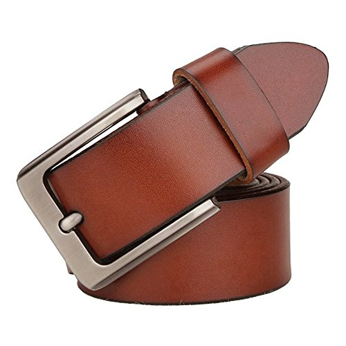 JingHao A9 Belts for Men Genuine Leather Belt for Dress & Jeans Big and Tall Size S-9XL 3 Colors (7XL 54