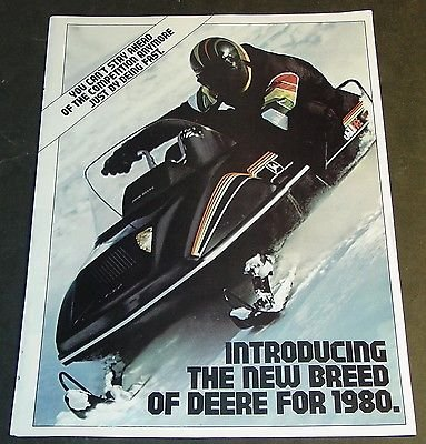 Deere Parts Snowmobile John - VINTAGE 1980 JOHN DEERE SNOWMOBILE SALES BROCHURE 12 PAGES NICE (612)