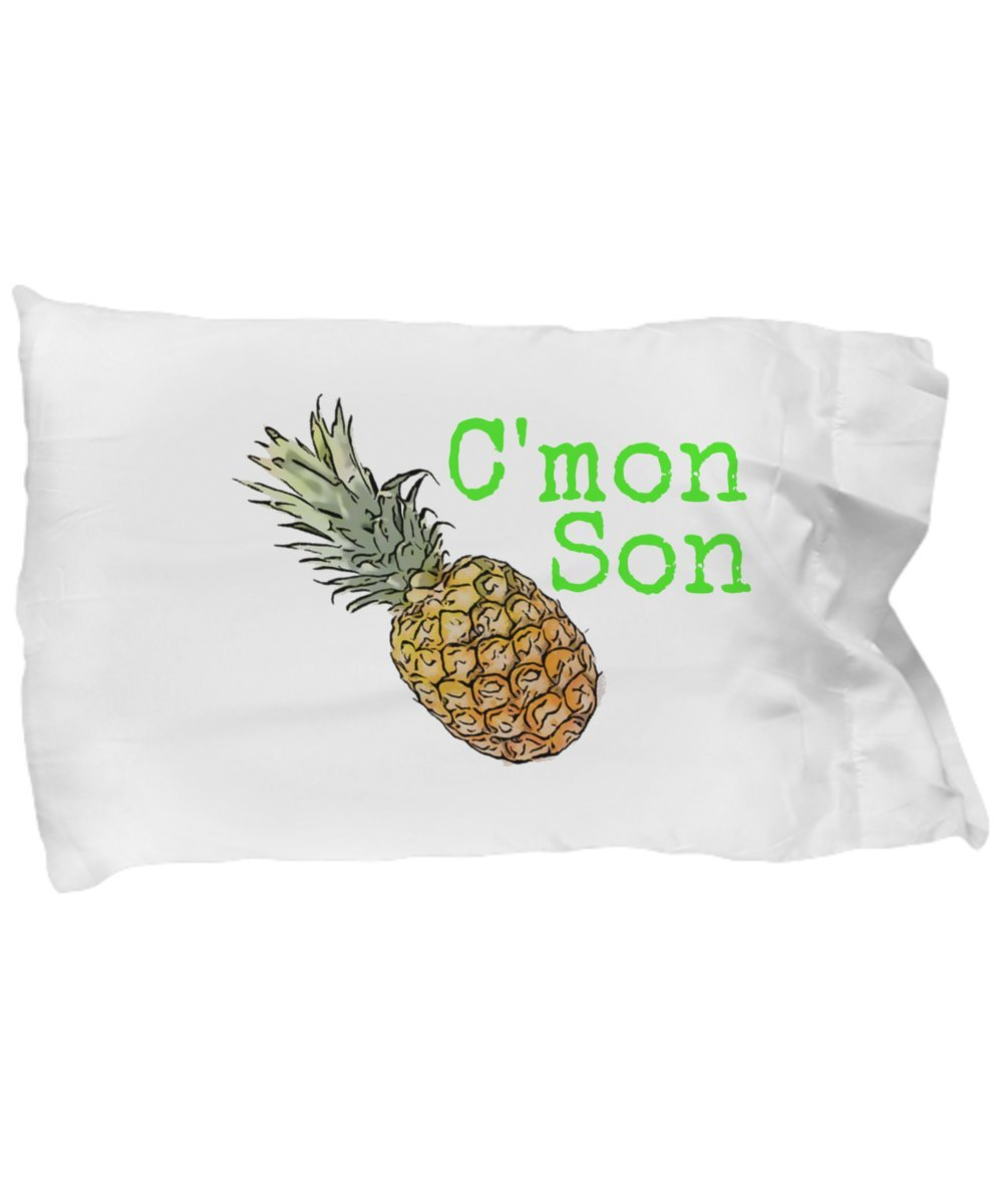 Psych Pineapple Pillow - C'mon Son Quote - Sayings - Stuff - Gifts - Merchandise
