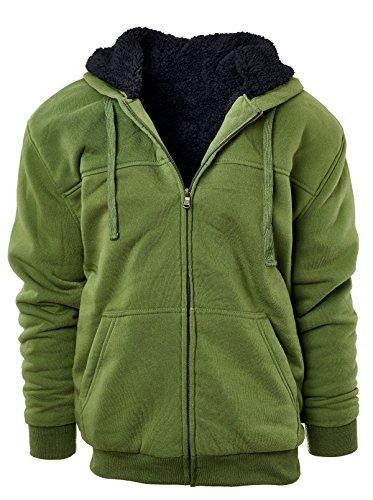 Mens Hooded Fleece Sweatshirt - 1
