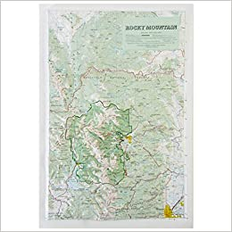 American Educational Products Raised Relief Map 404 Rocky ...