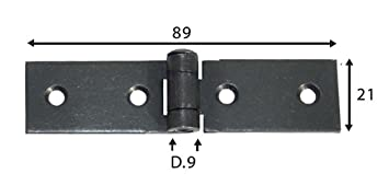 Variante 4 Scharniere brüniert Torbänder Scharnier Kistenband Kistenscharniere M