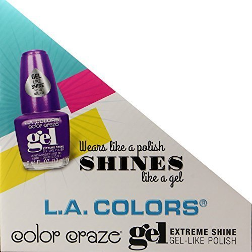 16pc L.A. Colors Extreme Shine Gel Nail Polish No UV Needed, Intense color, Fuss free