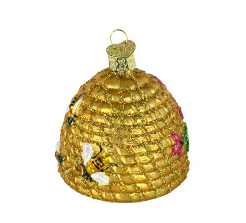 Old World Christmas Ornaments: Bee Skep Glass Blown Ornaments for Christmas Tree by Old World Christmas (Image #1)