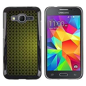 Smartphone Rígido Protección única Imagen Carcasa Funda Tapa Skin Case Para Samsung Galaxy Core Prime SM-G360 Texture Green Yellow / STRONG