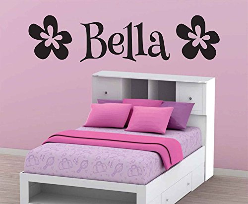 Bella-Flower-Wall-Decal-Personalized-Room-Wall-Art-Custom-Name-Vinyl (Bella Glass Tiles)