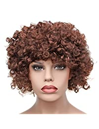 Afro Fluffy Wig Hair Curl Wigs Synthetic Fiber Hairpiece Party Hair Fan Costume Wig