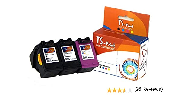 TS-Print 3X Cartuchos de Tinta 304XL Paquete para HP Deskjet 2600 ...