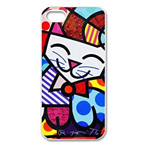 Romero Britto Lovely Cat iPhone 5 5S Unique Style Durable Cover Case