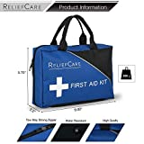 RELIEFCARE Nautical Essential Survival Medical First Aid Kit Bag – 200 Pcs – Supplies – Compact & Lightweight – Ideal as Home, Sports, Adventure, Hiking, Office - FDA and CE Approved