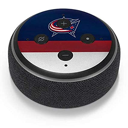 6cd6d220750 Skinit Columbus Blue Jackets Alternate Jersey Amazon Echo Dot 3 Skin -  Officially Licensed National Hockey
