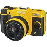 Pentax Q7 12.4MP Mirrorless Digital Camera with 02 Standard Zoom 5-15mm f2.8-4.5 and 06 Telephoto Zoom 15-45mm f2.8 Lenses (Yellow)