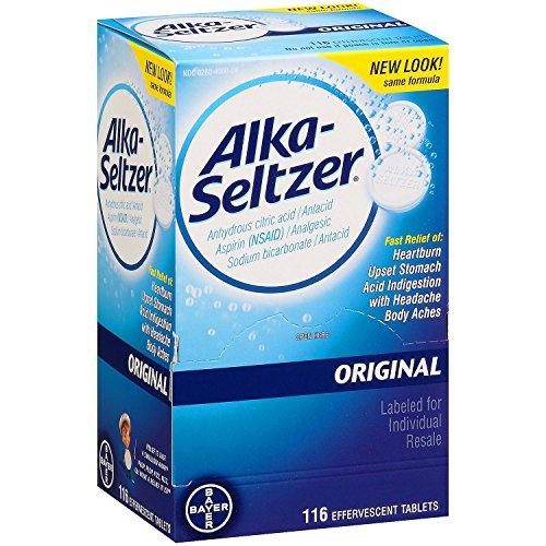 SCS Alka-Seltzer Original Antacid and Analgesic - 116 ct. Alka Seltzer Antacid Medicine